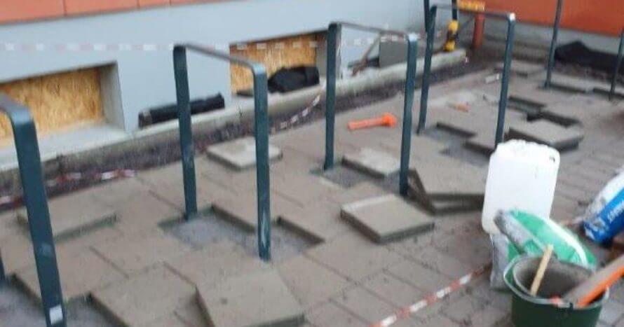 JE-Mark Installation montering cykelställ