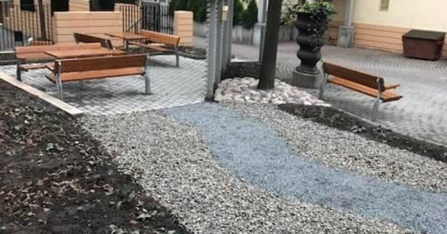JE Mark bostadsrättsförening innergård Södermalm Stockholm finplanering