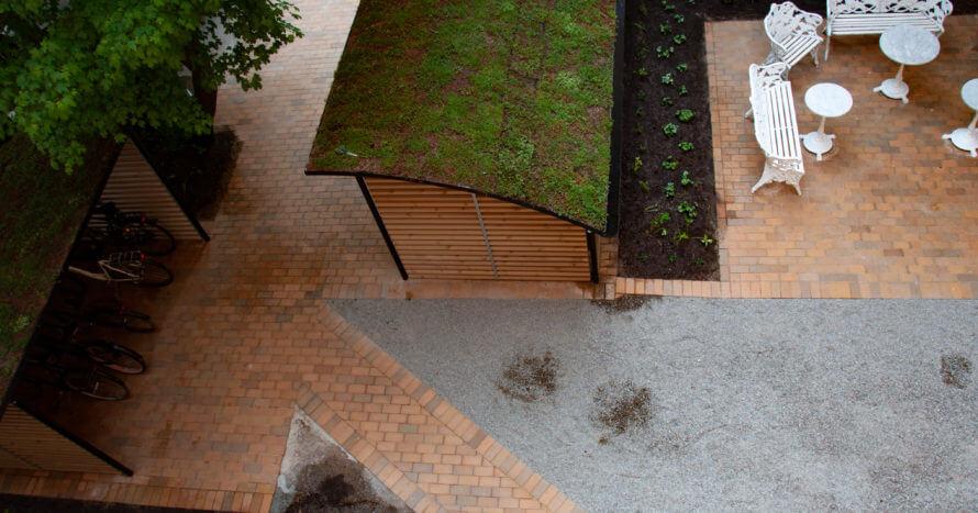innergård renovering stockholm plattsättning