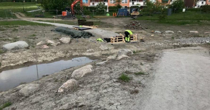 JE Mark Anläggning Brobygge Gångväg