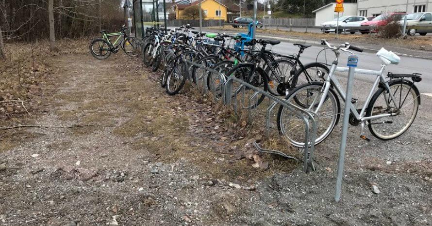 Ormsta cykelparkering