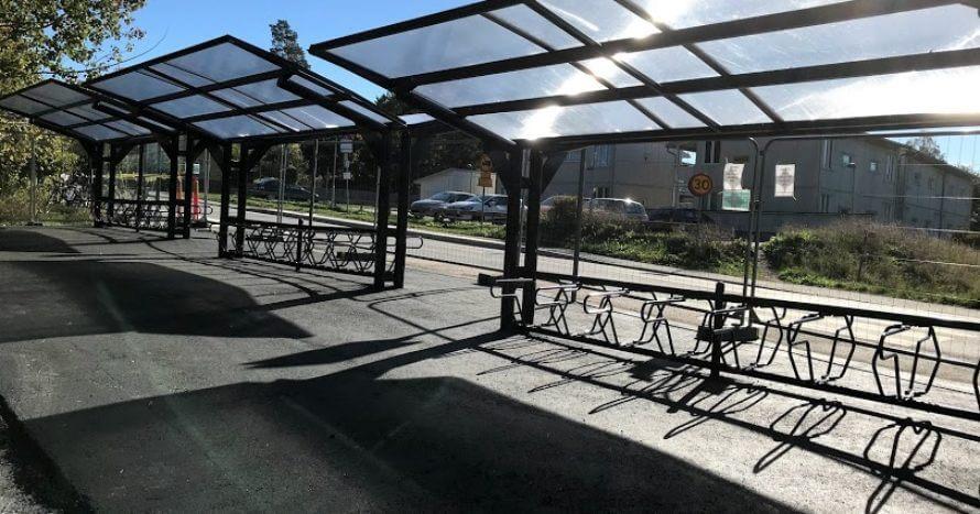 anläggning Ormsta station JEMark cykelparkering