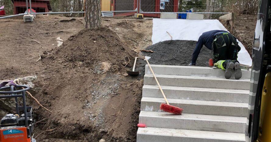 byggnation trappa anläggning stockholm