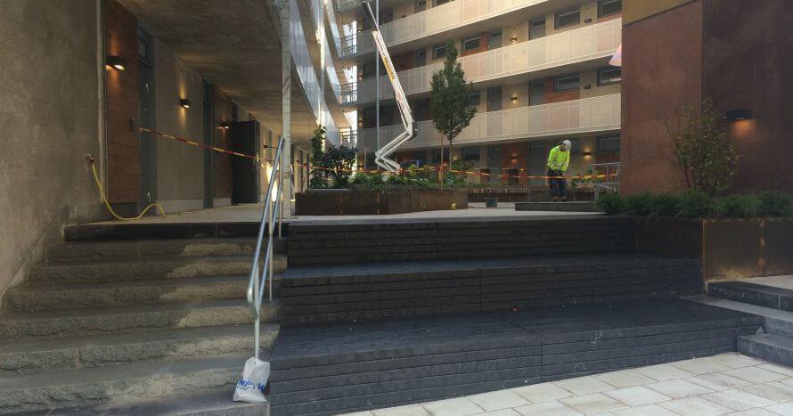JE-Mark Anläggning trappor innergård plattläggning