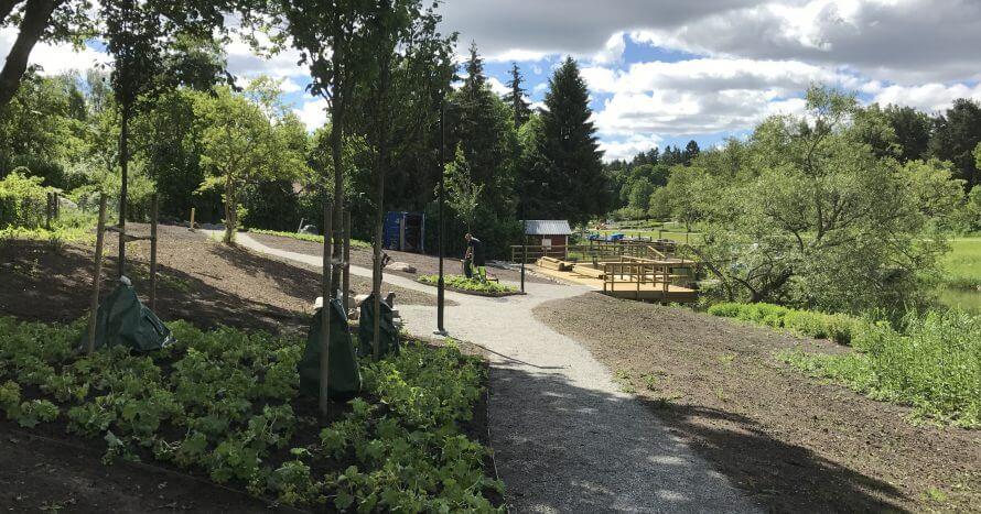 stadspark mot brygga